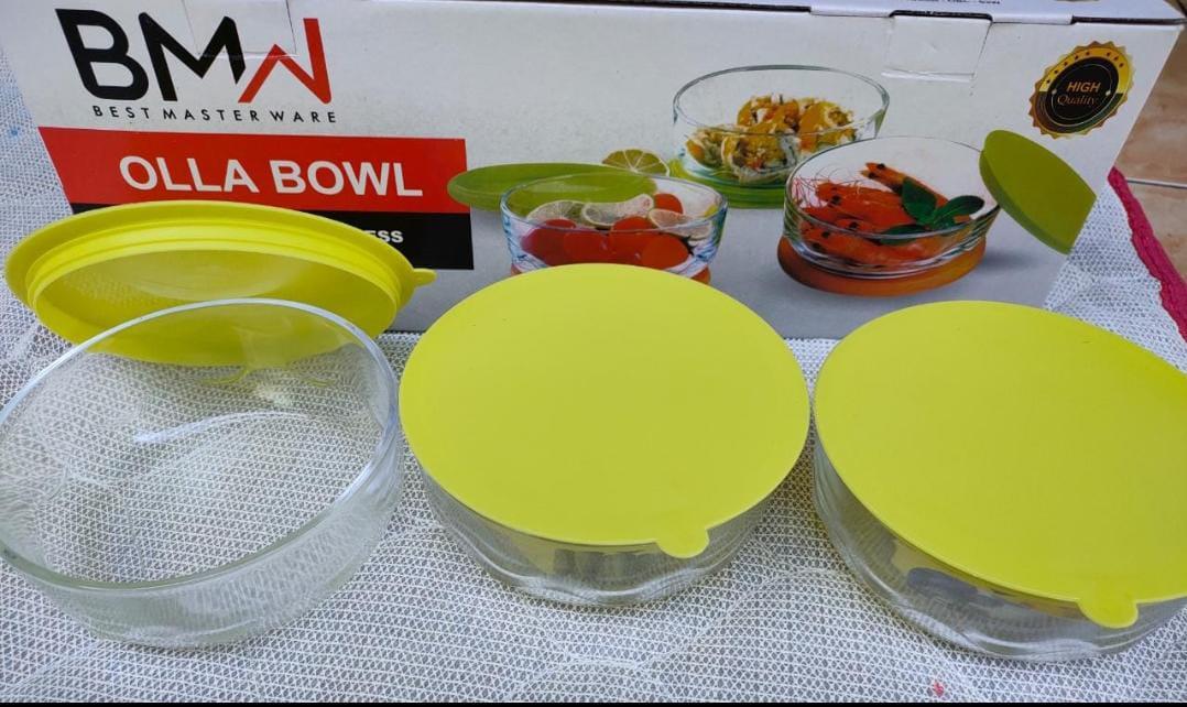 Olla Bowl set BMW / Fresh Box Kaca BMW / Mangkok Olla Bowl Set BMW