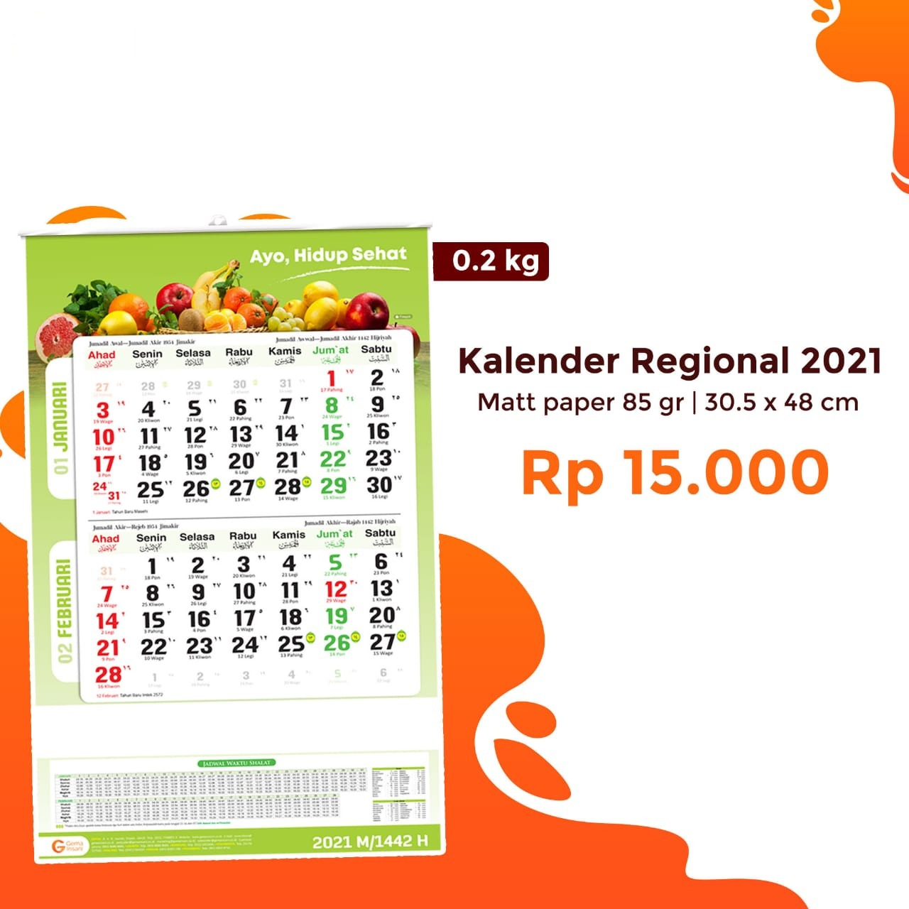 Kalender Regional 2021