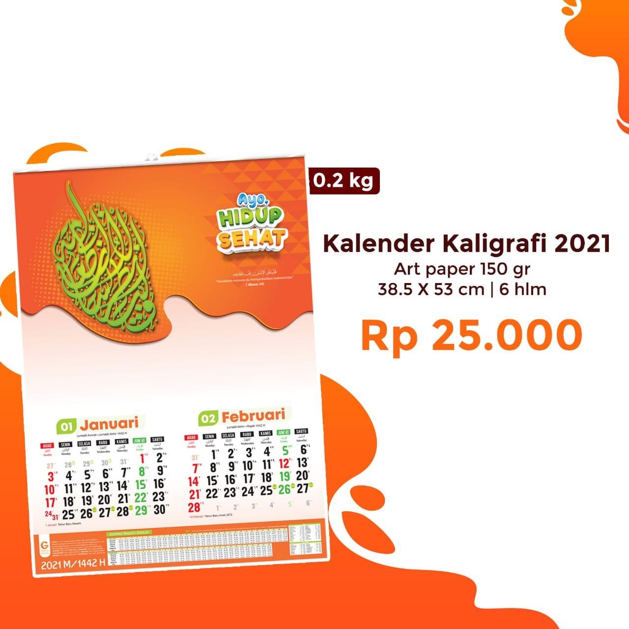 Kalender Kaligrafi