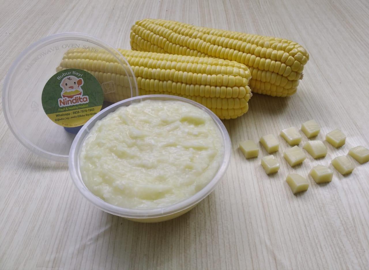 Bubur halus rasa keju jagung (Hari Kamis dan Sabtu)