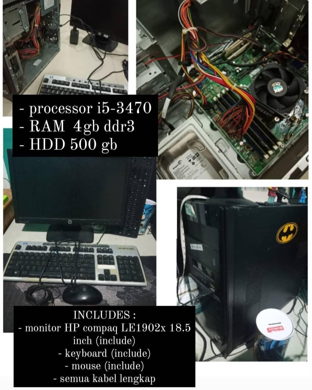 Unit Komputer atau PC Prosessor I5 3470